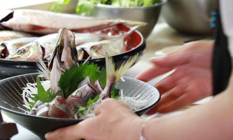 魚料理 アジ