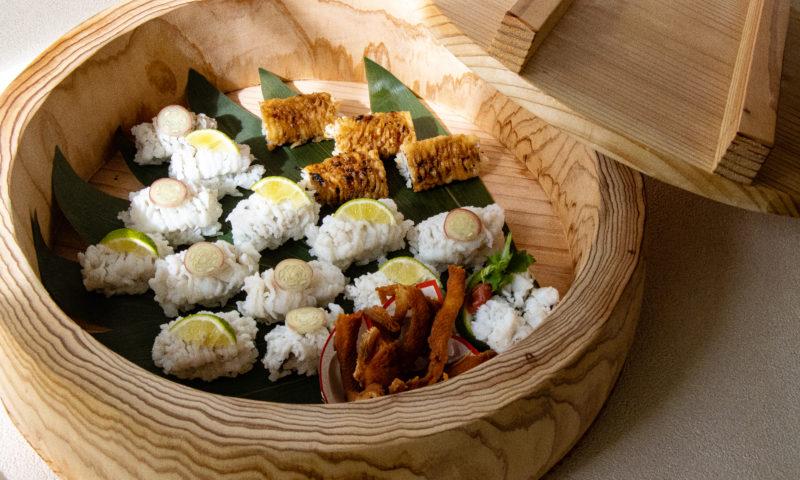 握り寿司コースの鱧寿司
